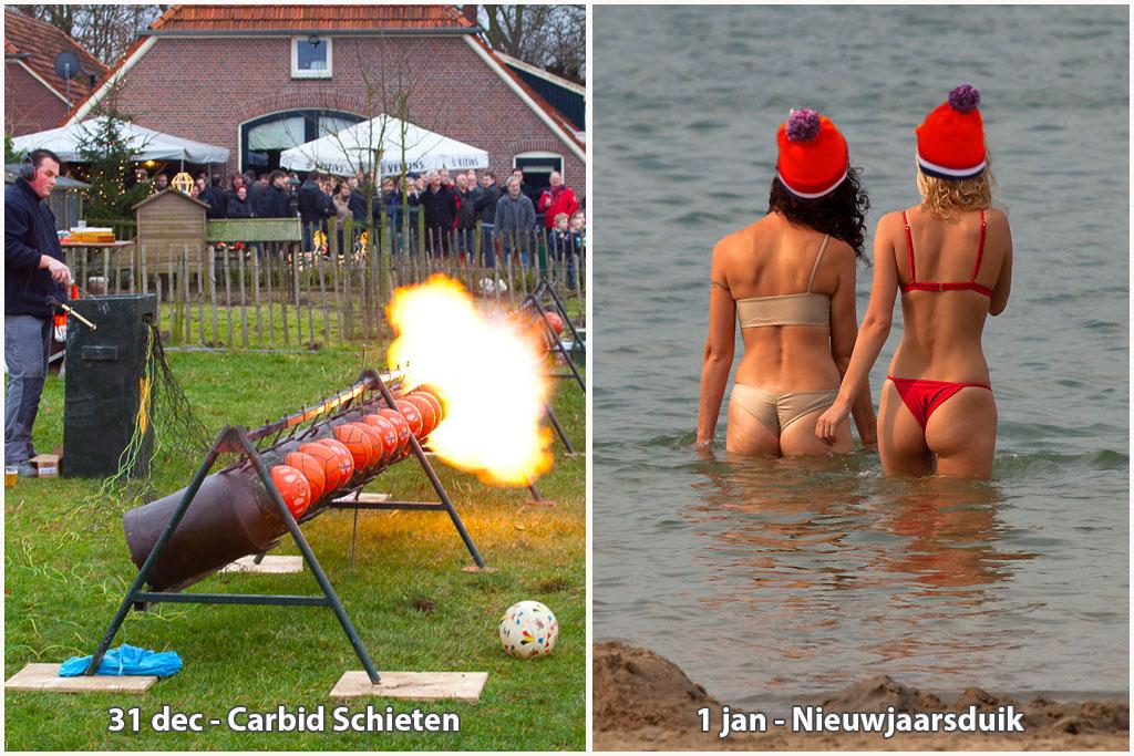 Oud en Nieuw - Carbidschieten en Nieuwjaarsduik Regio Achterhoek - Liemers