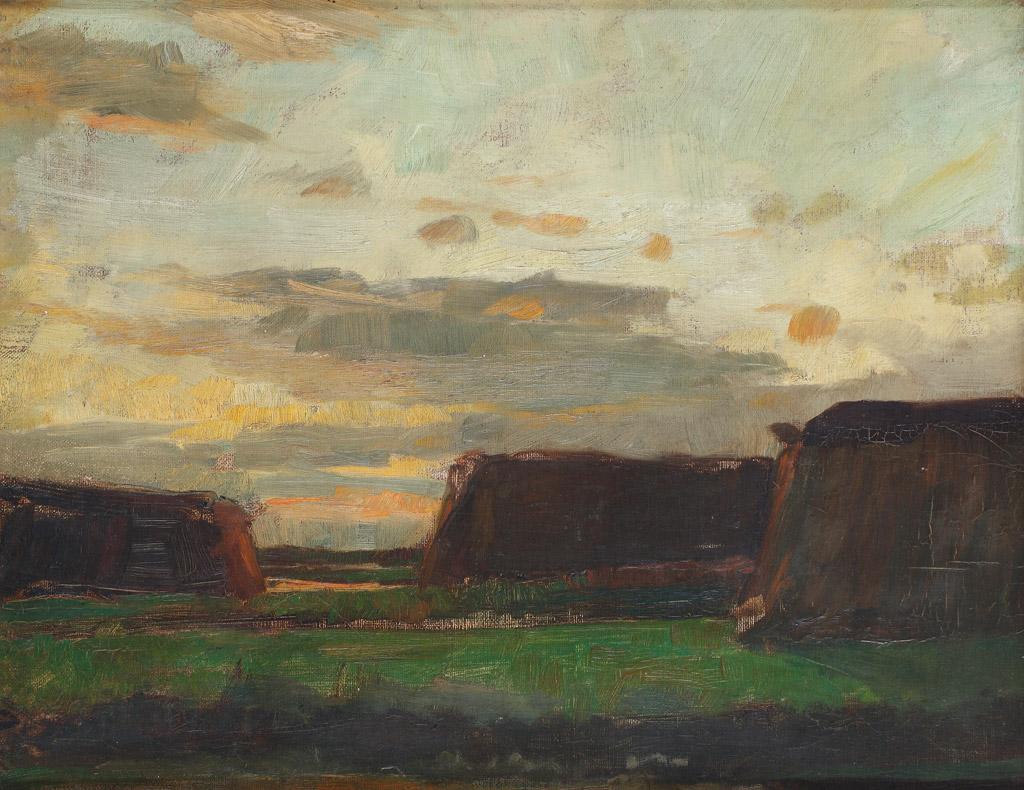 Villa Mondriaan - Winterswijk - Piet Mondriaan, Drie hooischelven in een veld (ca. 1907) Regio Achterhoek - Liemers